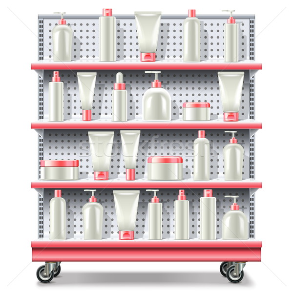 Vector supermarkt cosmetica geïsoleerd witte Stockfoto © dashadima