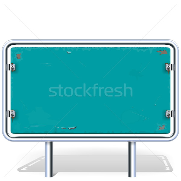Vector Rusty Industrial Billboard Stock photo © dashadima