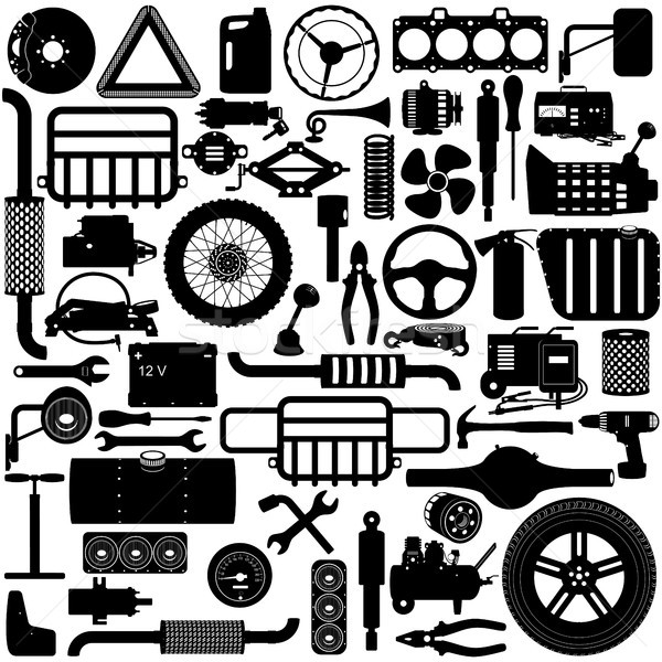 Vector Car Parts Pictogram Stock photo © dashadima