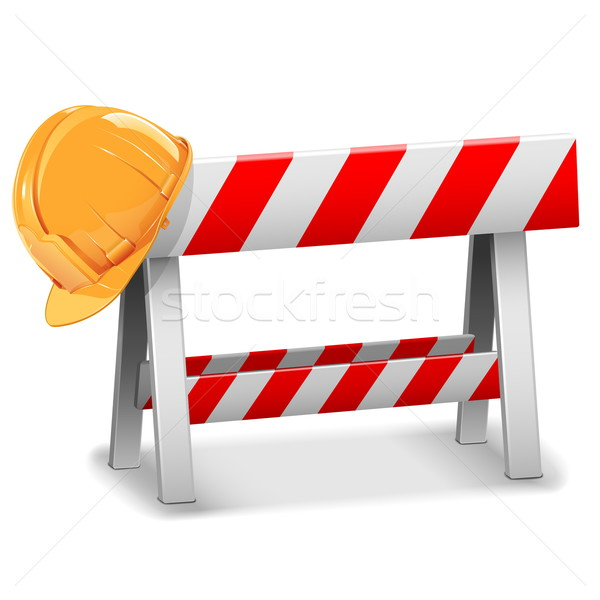 Vector Barrier with Helmet Stock photo © dashadima