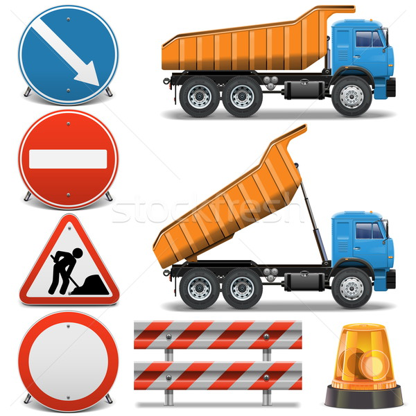 Vector Road Construction Icons set 2 Stock photo © dashadima