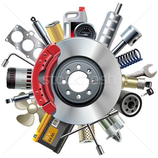 Vector Car Spares Concept with Disk Brake Stock photo © dashadima
