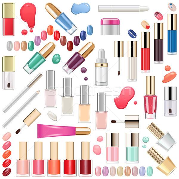 Vector Nails Makeup Cosmetics Stock photo © dashadima
