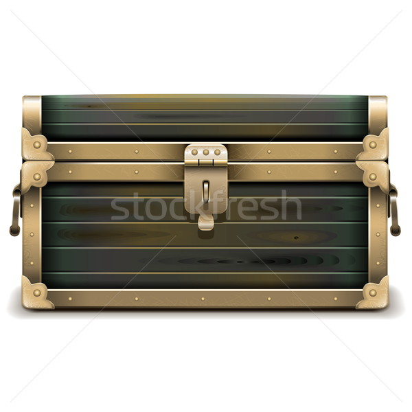 Vector Wooden Chest Stock photo © dashadima