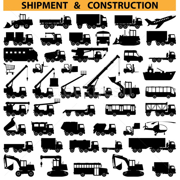 Vector commercial vehicles pictograms Stock photo © dashadima