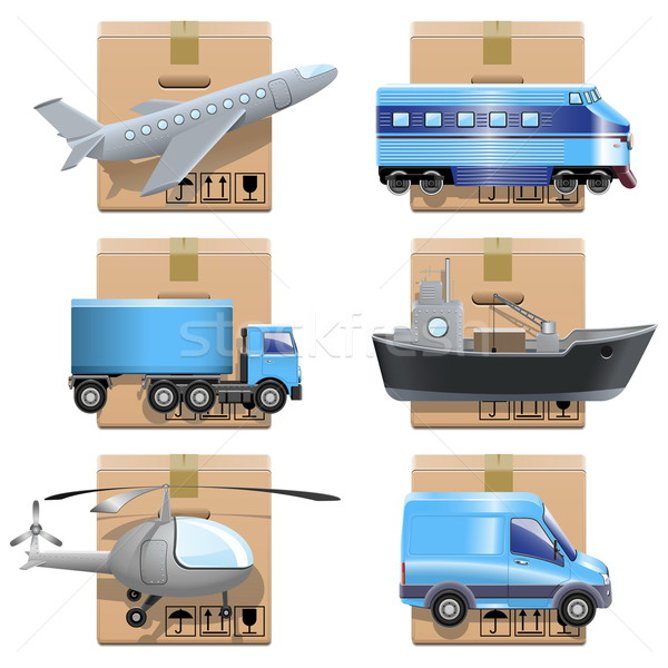 Vector Shipment Icons Stock photo © dashadima