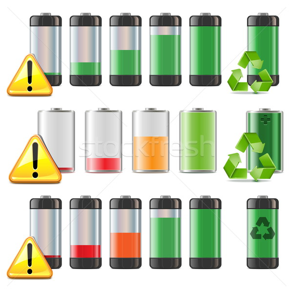 Vector Battery Icons Set Stock photo © dashadima