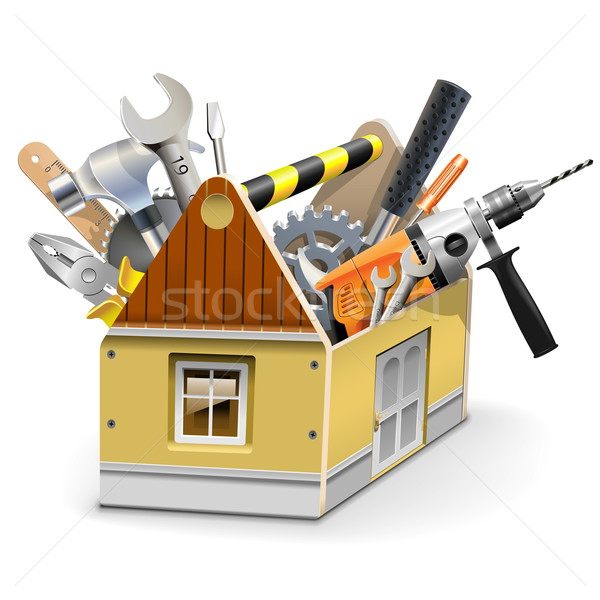 Vector House Toolbox Stock photo © dashadima