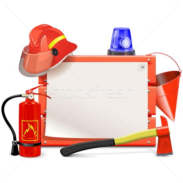 Vector Firefighter Board Stock photo © dashadima
