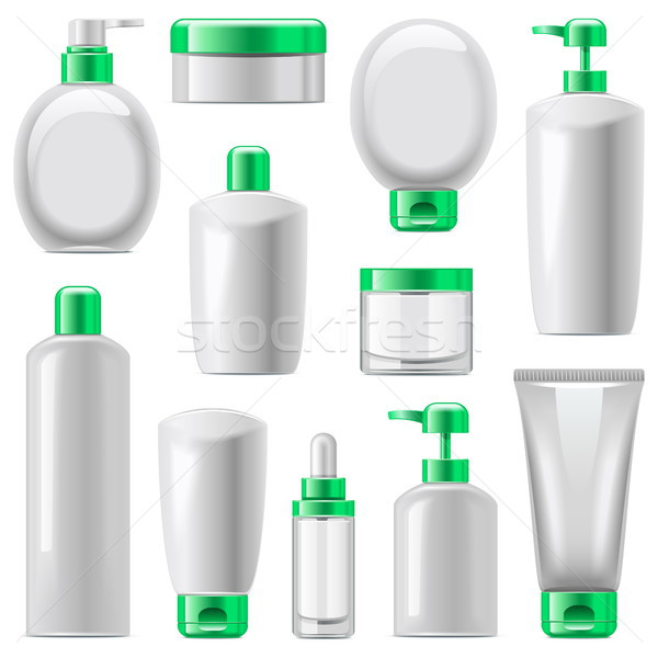 Vector Cosmetic Packaging Icons Set 13 Stock photo © dashadima