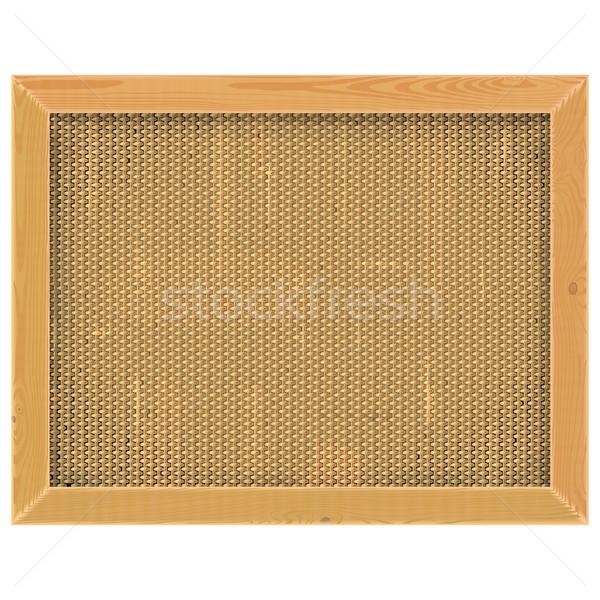 Vector Wooden Frame with Sackcloth Stock photo © dashadima