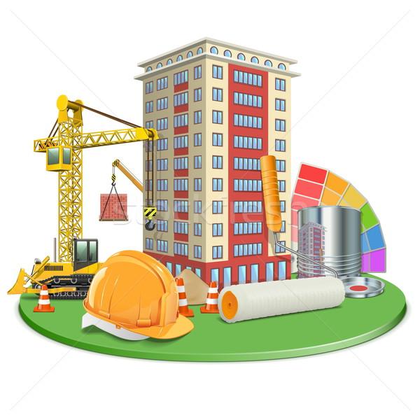 Stock photo: Vector Living Block Construction