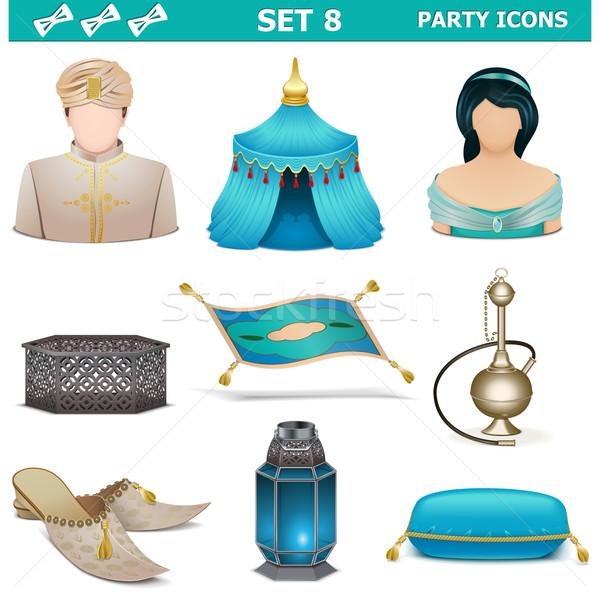 Vector Party Icons Set 8 Stock photo © dashadima