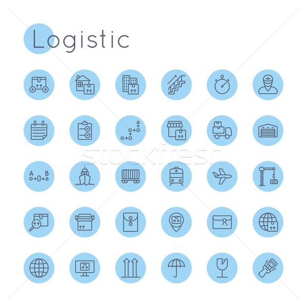 Vektor Symbole isoliert weiß Welt LKW Stock foto © dashadima