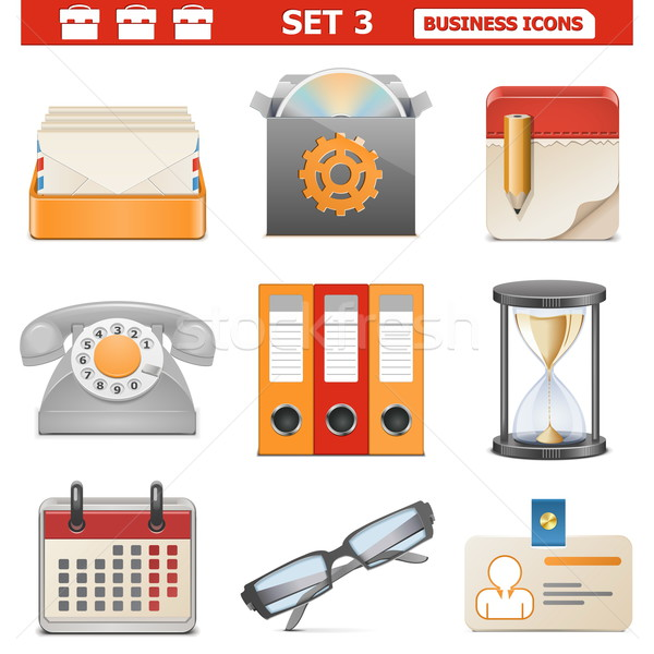 Vector Business Icons Set 3 Stock photo © dashadima