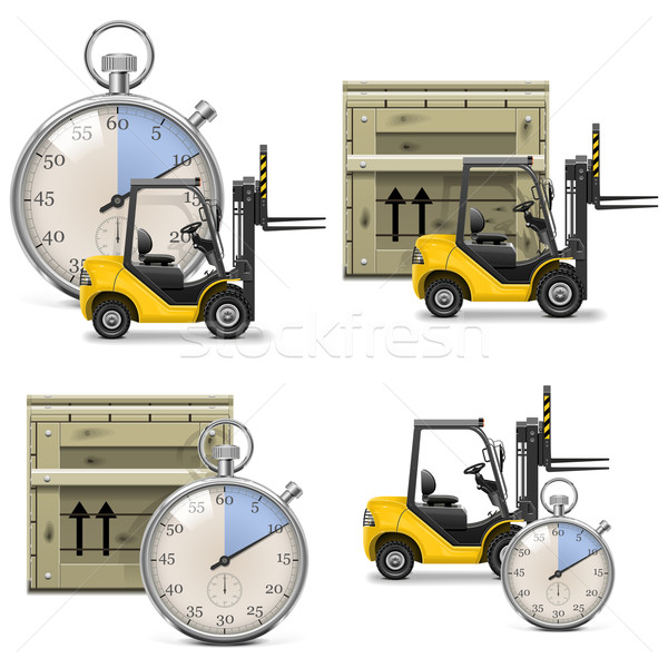 Vector Shipment Icons Set 21 Stock photo © dashadima