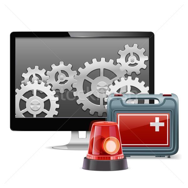 Vector Computer Emergency Support Stock photo © dashadima