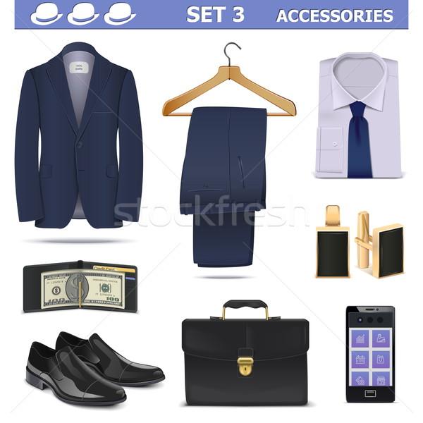 Vector Male Accessories Set 3 Stock photo © dashadima
