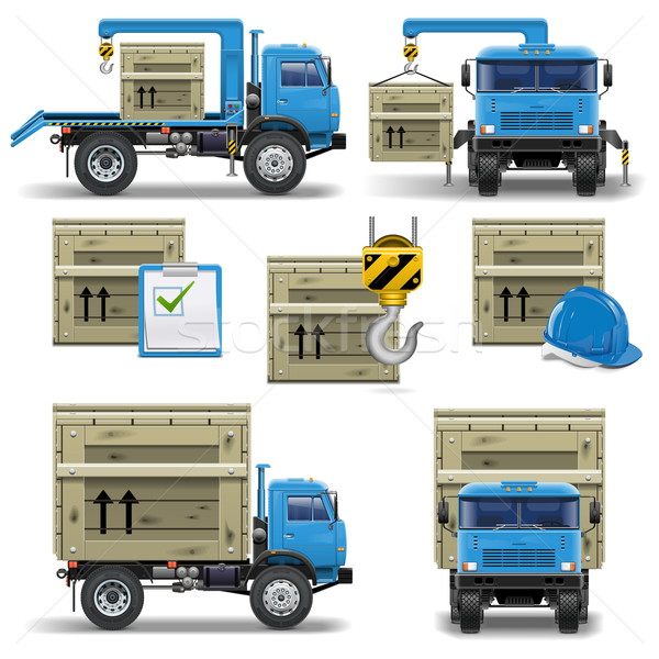 Vector shipment icons set 7 Stock photo © dashadima