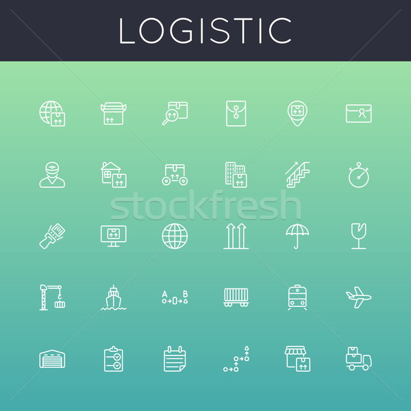 Vector Logistic Line Icons Stock photo © dashadima