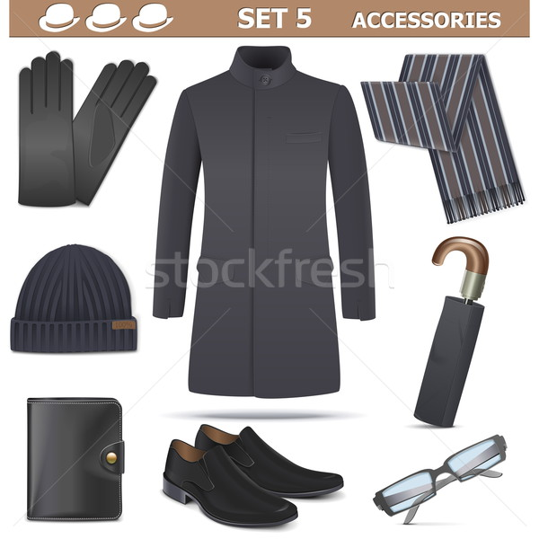 Vector Male Accessories Set 5 Stock photo © dashadima