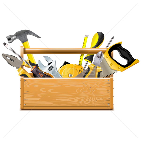 Vector Toolbox with Instruments Stock photo © dashadima