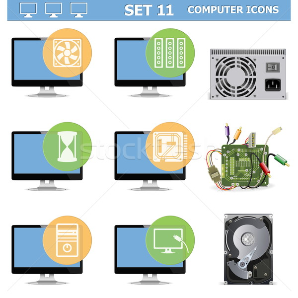 Vector Computer Icons Set 11 Stock photo © dashadima