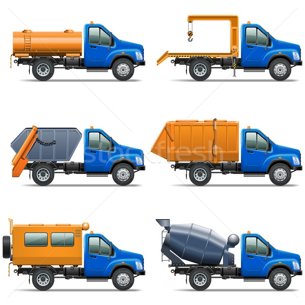 Vector Lorry Icons Set 5 Stock photo © dashadima