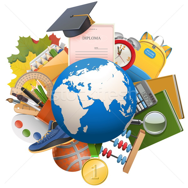 Vector Global Education Concept Stock photo © dashadima
