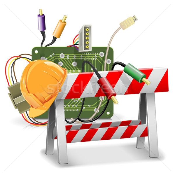 Vector Under Construction Concept with Barrier Stock photo © dashadima