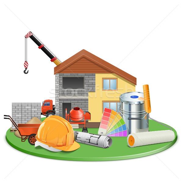 Vector Cottage Construction Stock photo © dashadima