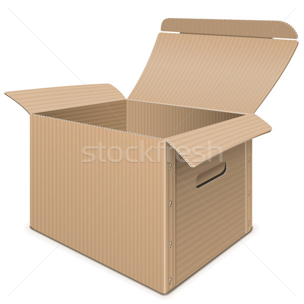Vector Empty Carton Box Stock photo © dashadima
