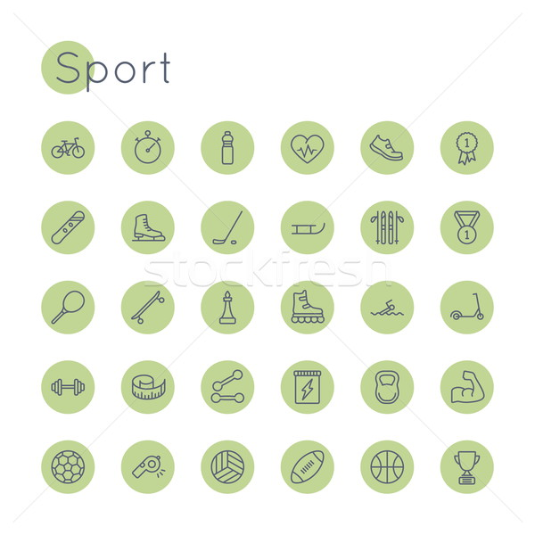 Vector Round Sport Icons Stock photo © dashadima