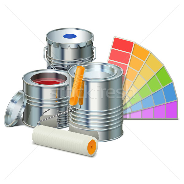 Stock photo: Vector Painting Concept with Paints