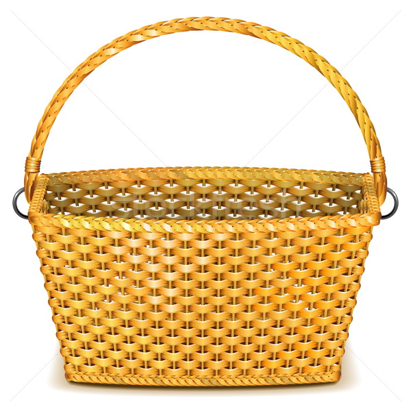 Vector Wicker Basket Stock photo © dashadima