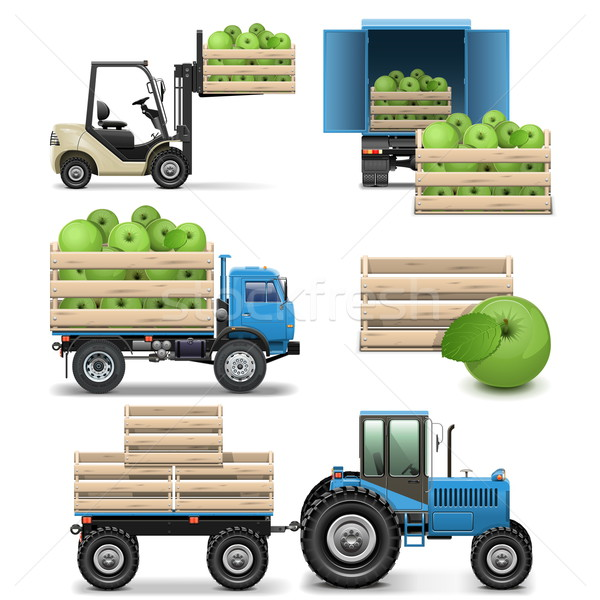 Vector Agricultural Icons Stock photo © dashadima