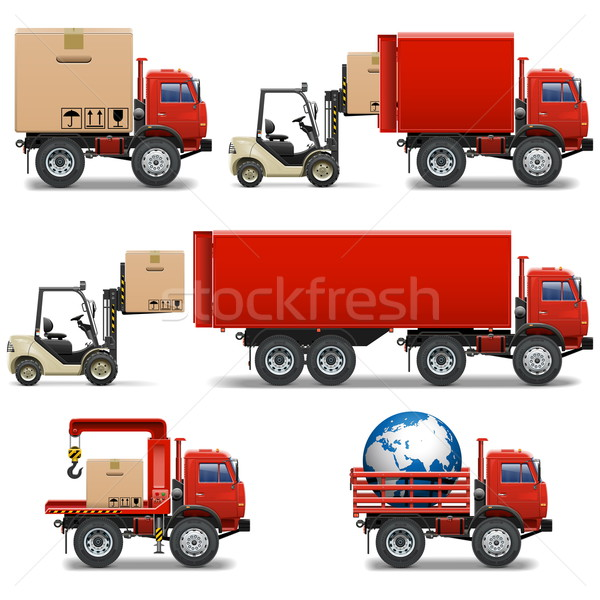 Vector Shipment Icons Set 34 Stock photo © dashadima