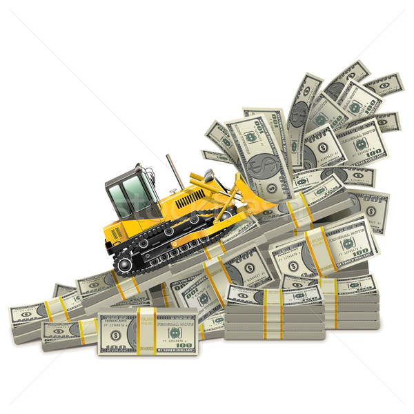 Wektora zarobek wzrostu odizolowany biały finansów Zdjęcia stock © dashadima