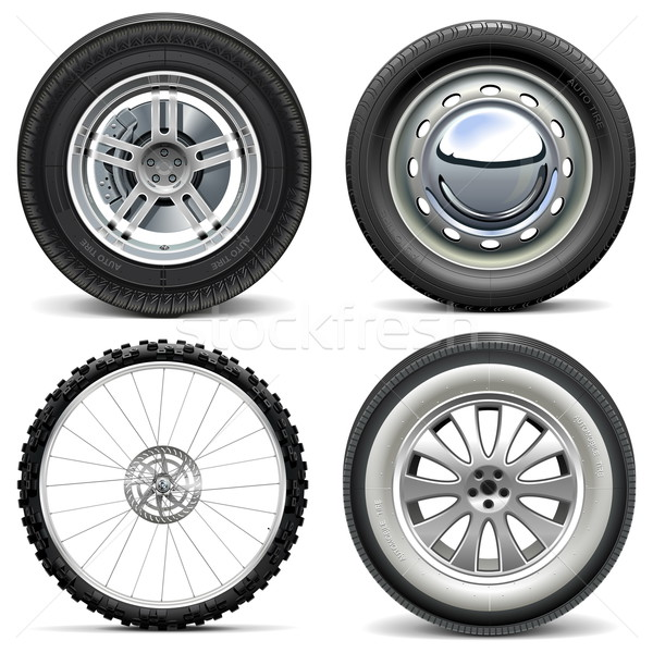 Vector Vehicle Wheels Stock photo © dashadima