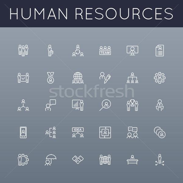 Vector HR Line Icons Stock photo © dashadima