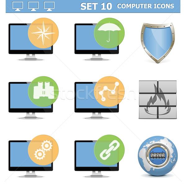 Vector Computer Icons Set 10 Stock photo © dashadima