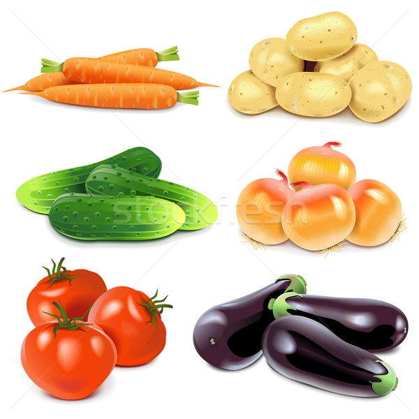Vector Vegetables Stock photo © dashadima