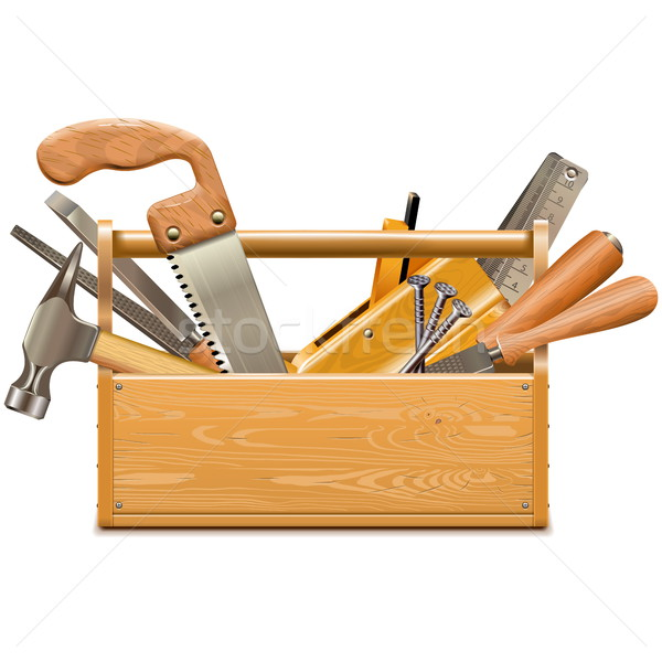 Stock photo: Vector Toolbox with Retro Instruments