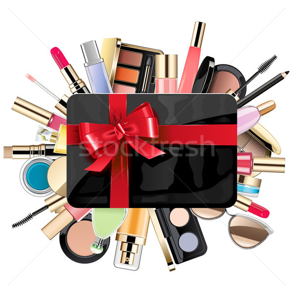 Vector Gift Card with Cosmetic Stock photo © dashadima