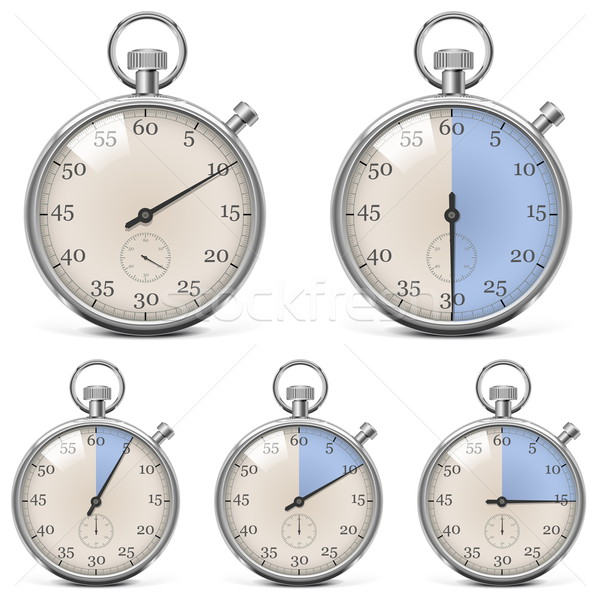 Vector Retro Stopwatch Set Stock photo © dashadima