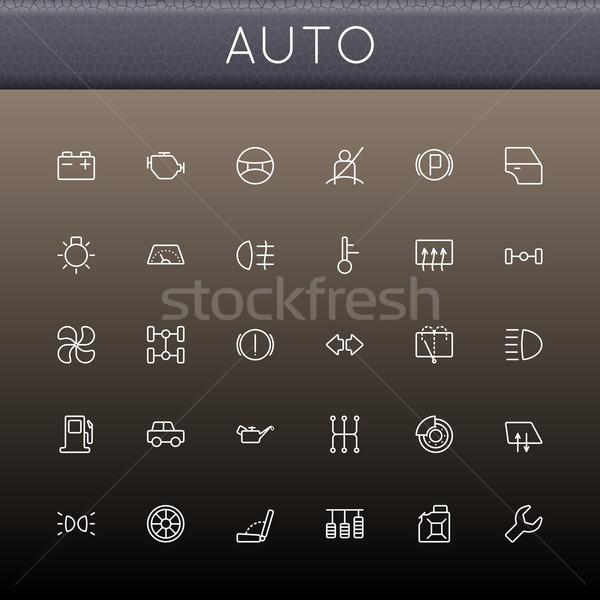 Vector Auto Line Icons Stock photo © dashadima
