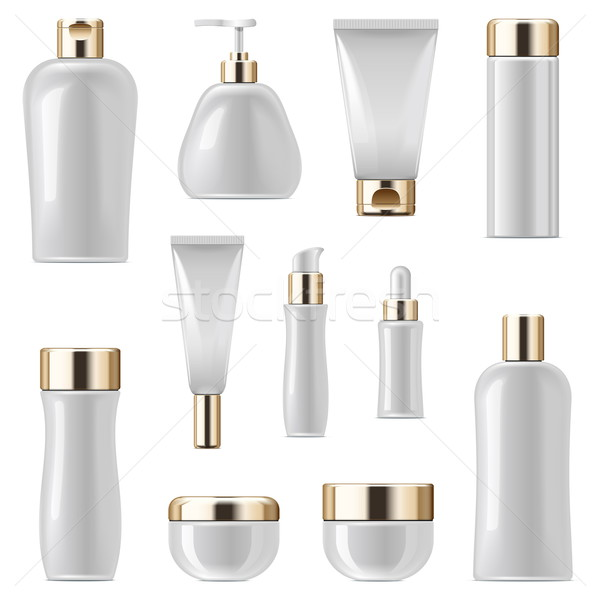 Vector Cosmetic Packaging Icons Set 3 Stock photo © dashadima