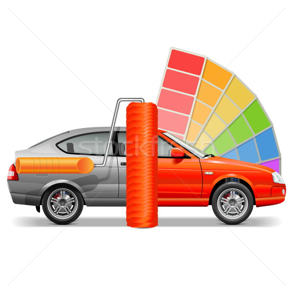 Vector Car with Paint Brush Stock photo © dashadima