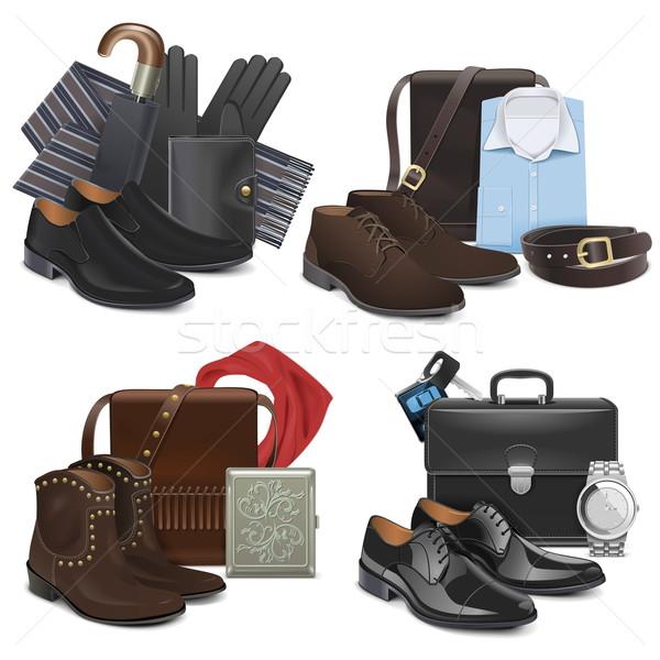 Vector Male Fashion Accessories Stock photo © dashadima