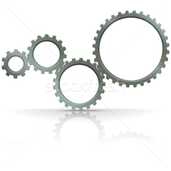 Vector Gears Stock photo © dashadima